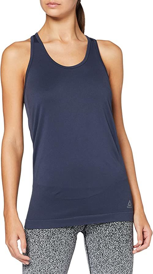 Reebok damski t-shirt bez rękawów Y Seamless Maternity Tank niebieski Blau (Heritage Navy) XXS