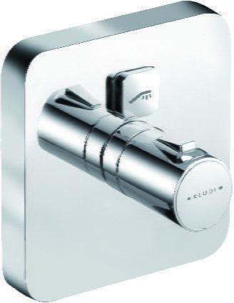 Push Kludi podtynkowa bateria natryskowa termostat chrom