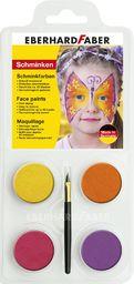 Eberhard Faber 579011  zestaw do makijażu dla dzieci w kształcie motyla, kolory: żółty, pomarańczowy, różowy i fioletowy, łącznie z pędzlem, rozpuszczalny w wodzie, szybkoschnący, do malowania twarzy