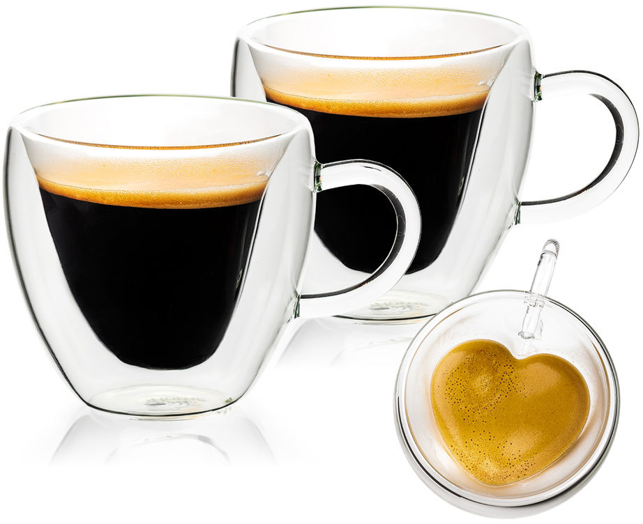 4home Szklanka termiczna Big Heart Hot&Cool, 250 ml, 2 szt.