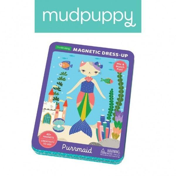 Mudpuppy - Magnetyczne Postacie Kotko - Syrenka 4+