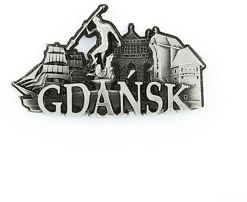 Magnes metalowy panorama Gdańsk