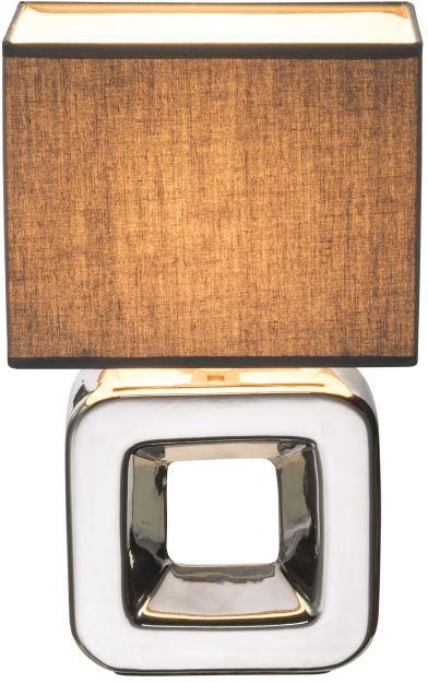 Globo KILAUEA 21603 lampa stołowa chrom szara 1xE14 20cm