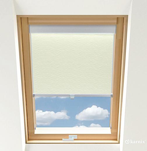 Rolety do okien dachowych BASIC BASMATI - Krem / Srebrny