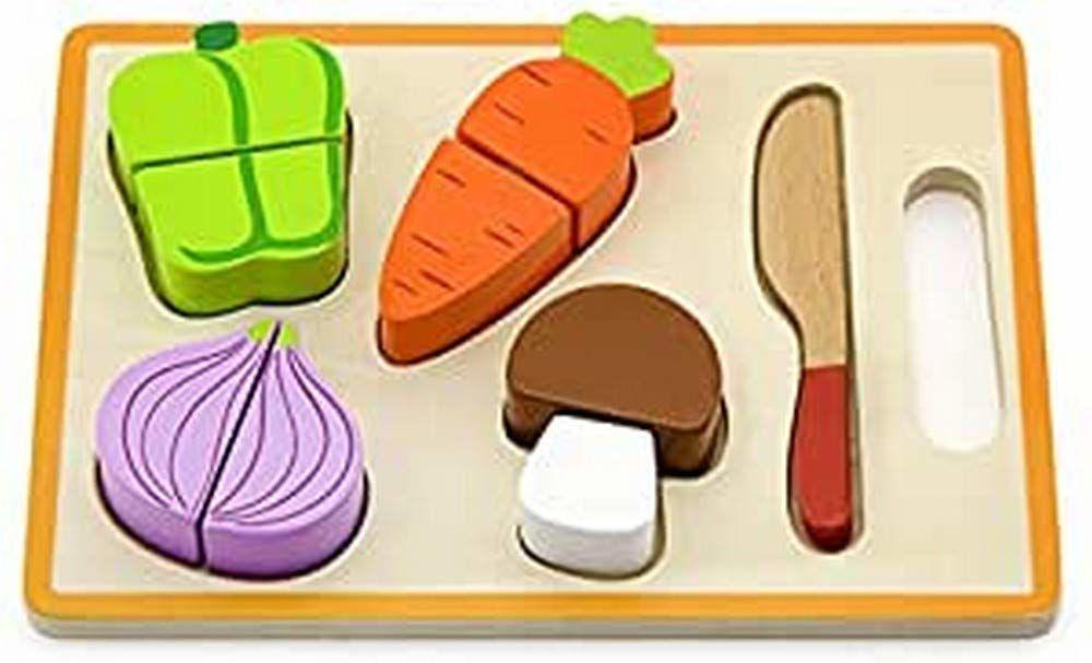 Viga Toys - puzzle formujące - krojenie warzyw