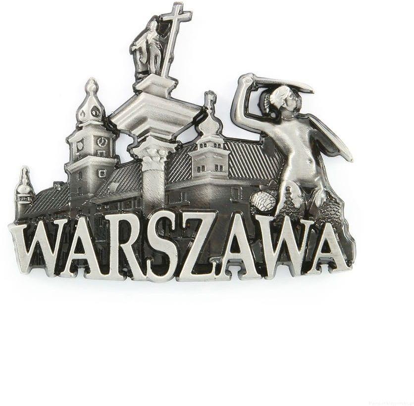 Magnes metalowy panorama Warszawa Starówka