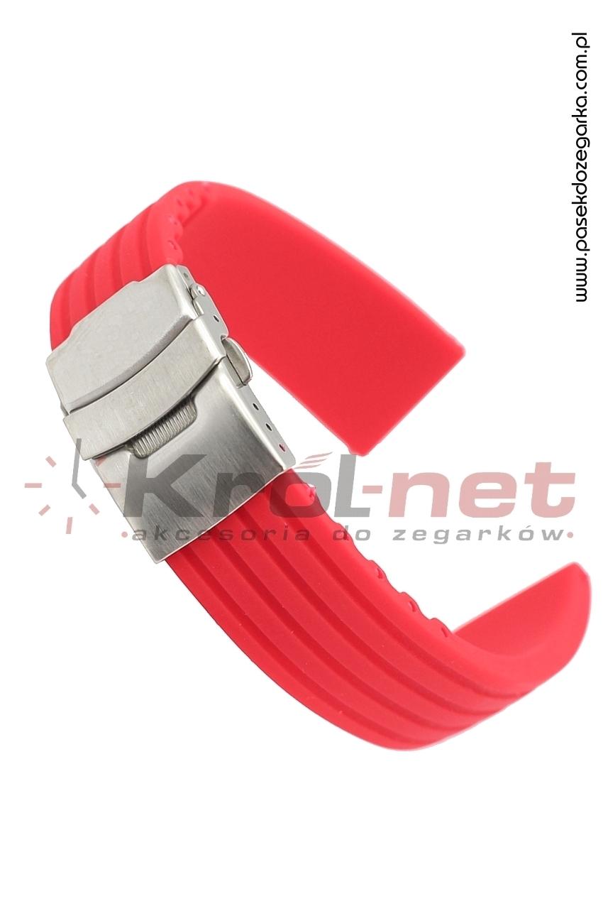 Pasek RP058CZ/22 - czerwony, silikonowy