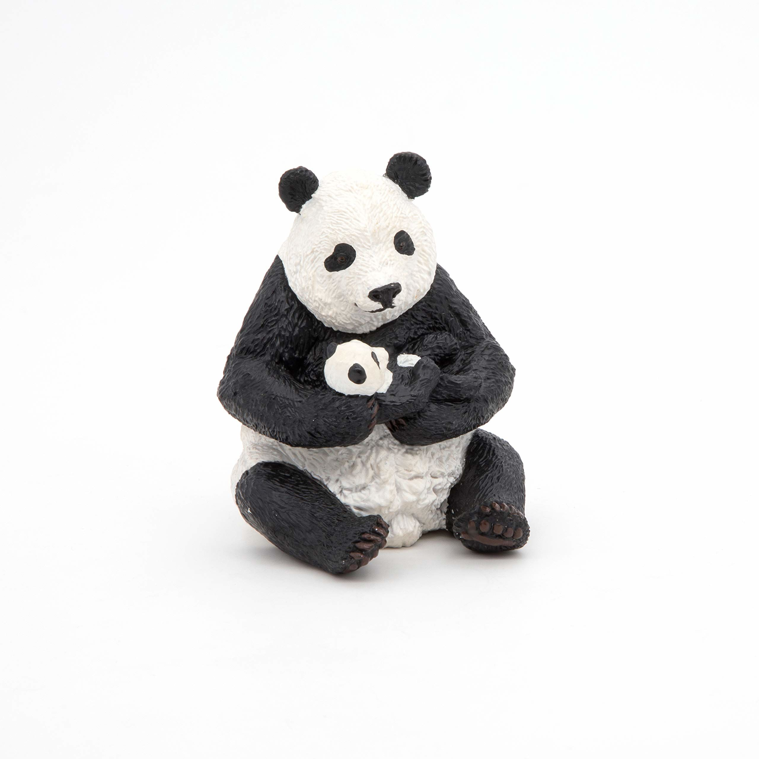 Papo 50196 siedzący panda z chłopcem, zabawa, wielokolorowy