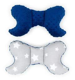 MAMO-TATO Poduszka antywstrząsowa motylek Gwiazdy białe duże / granatowy
