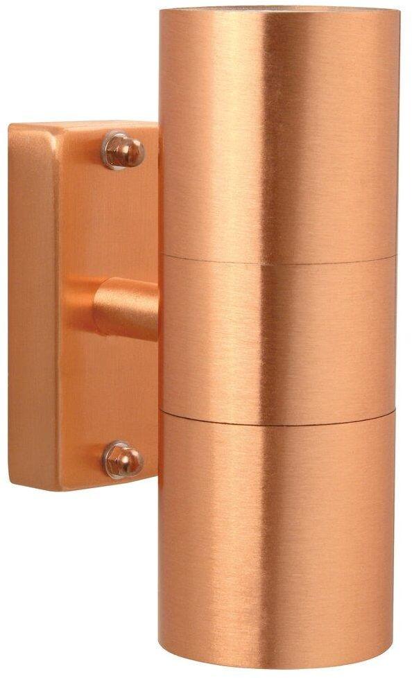 Kinkiet zewnętrzny Tin 21279930 Nordlux podwójna oprawa w kolorze miedzianym
