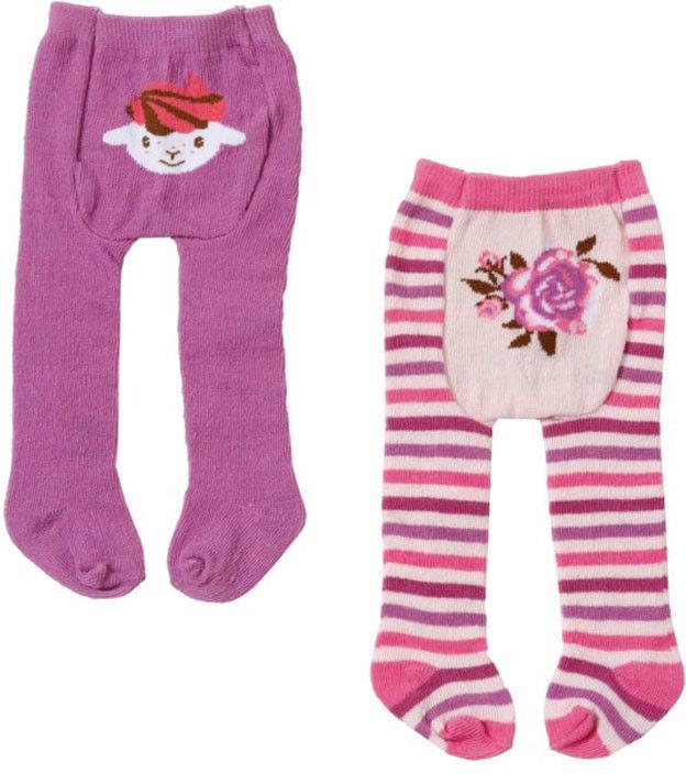 Baby Annabell - Rajstopki 2 pary fioletowe i różowe w paski 700815