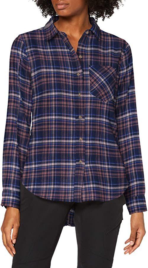 Marmot Damska magia Midweight flanelowa koszulka z długim rękawem fioletowy Dark Indigo M