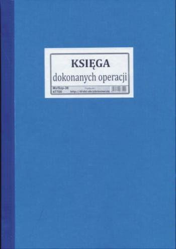 Księga dokonanych operacji [Mz/Szp-38]