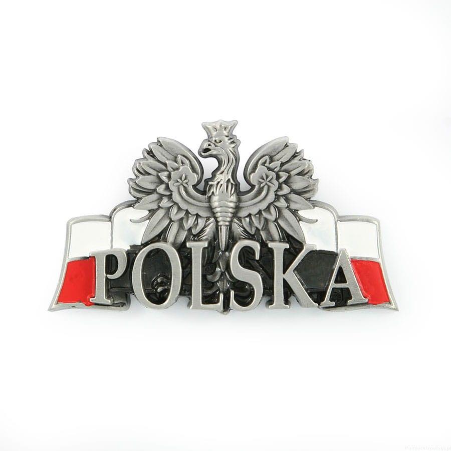 Magnes metalowy panorama Polska Orzeł