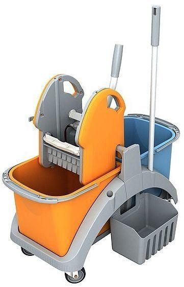 Wózek do sprzątania dwuwiadrowy TS2-0004 Splast z rączką i koszykiem dolnym