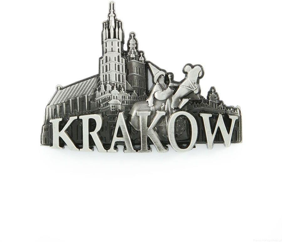 Magnes metalowy panorama Kraków rynek