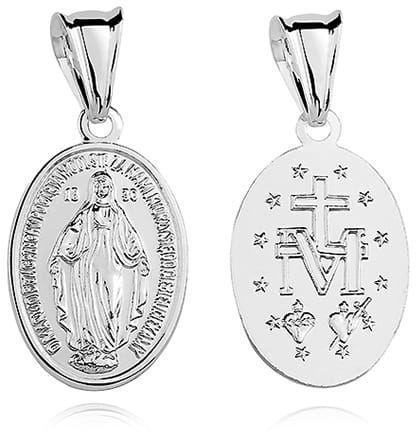 Cudowny medalik z Matką Bożą