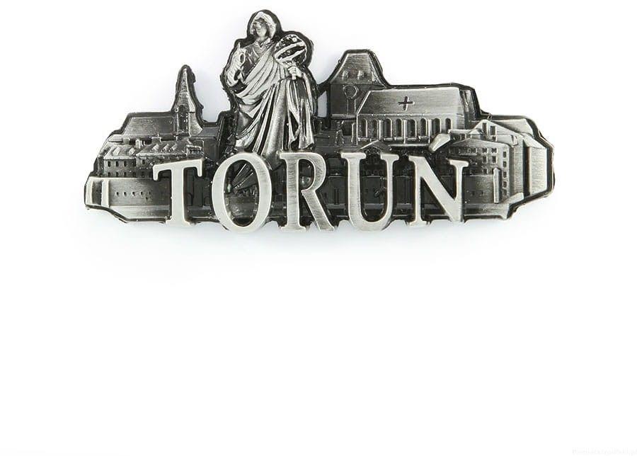 Magnes metalowy panorama Toruń
