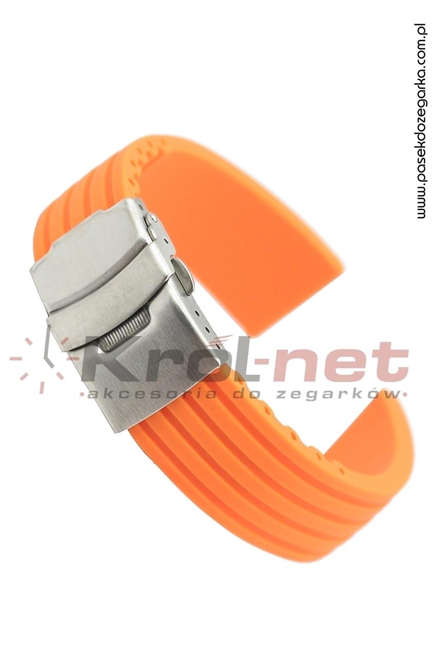 Pasek RP058P/24 - pomarańczowy, silikonowy