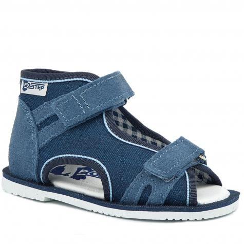 Ren But POSTĘP BS 191 Maja kapcie dla dzieci, sandałki profilaktyczne z obcasem Thomasa - niebieski
