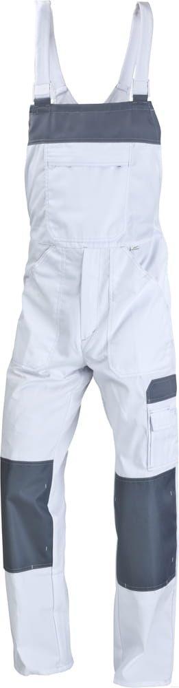 Spodnie ogrodniczki Work białe