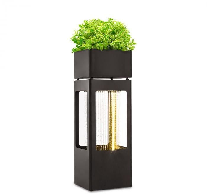 Blumfeldt Waterplant Fontanna ogrodowa z doniczką na rośliny 16 W ocynkowany metal