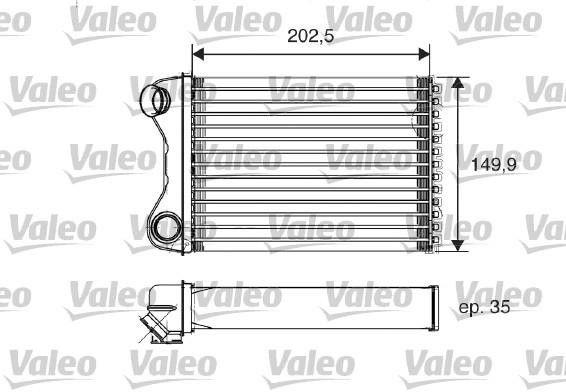 Wymiennik ciepła, ogrzewanie wnętrza VALEO 812211