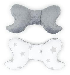 MAMO-TATO Poduszka antywstrząsowa motylek Gwiazdy szare duże / szary