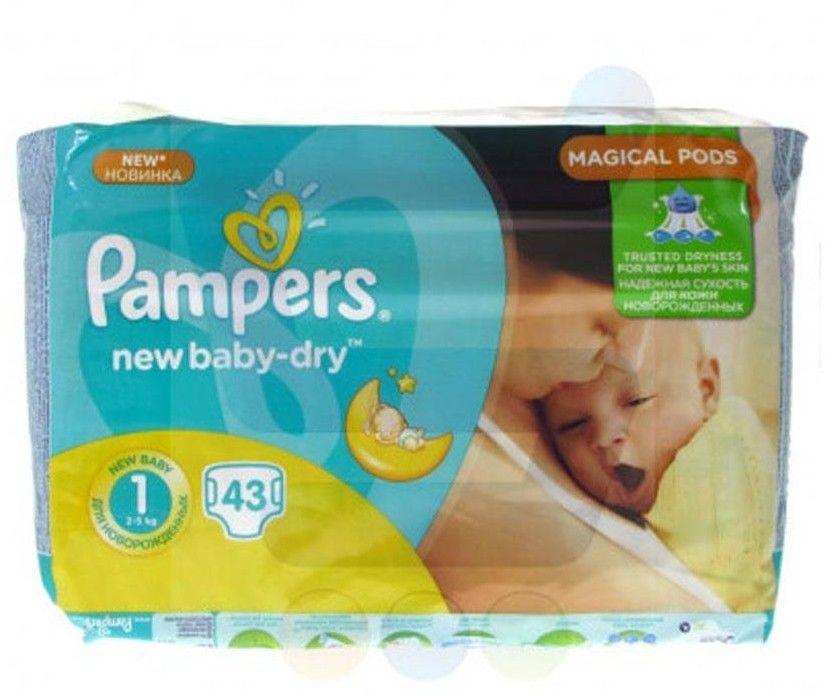 Pieluchy Pampers Newborn 2-5 kg 43 szt.