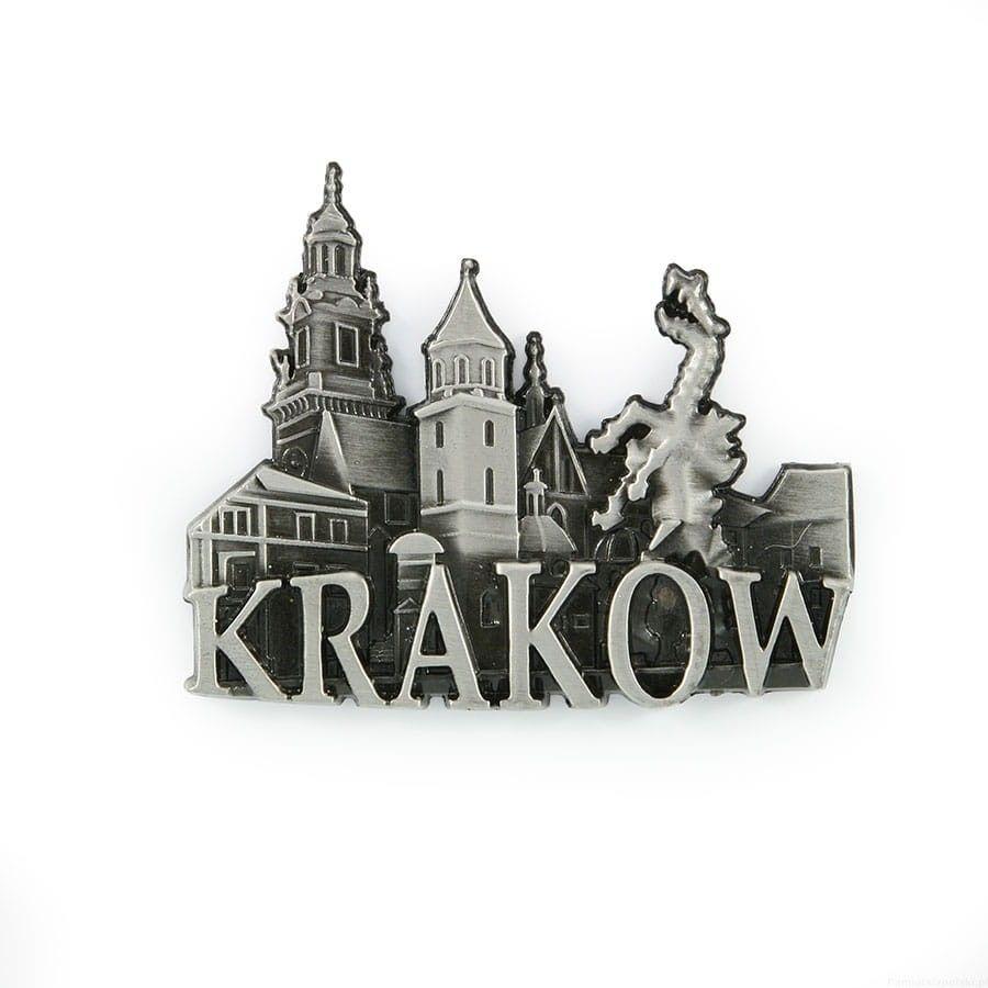 Magnes metalowy panorama Kraków Wawel