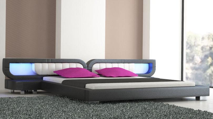 Łóżko do sypialni Harmony Led-2 140x200
