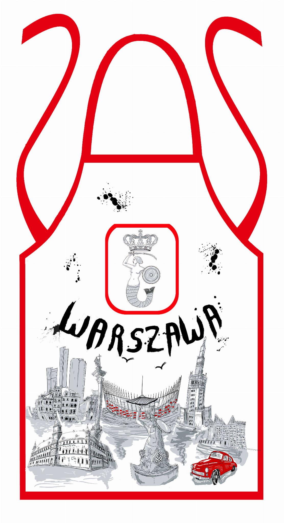Fartuch kuchenny Warszawa farba