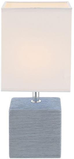 Globo GERI 21676 lampa stołowa szara biała 1xE14 11 cm
