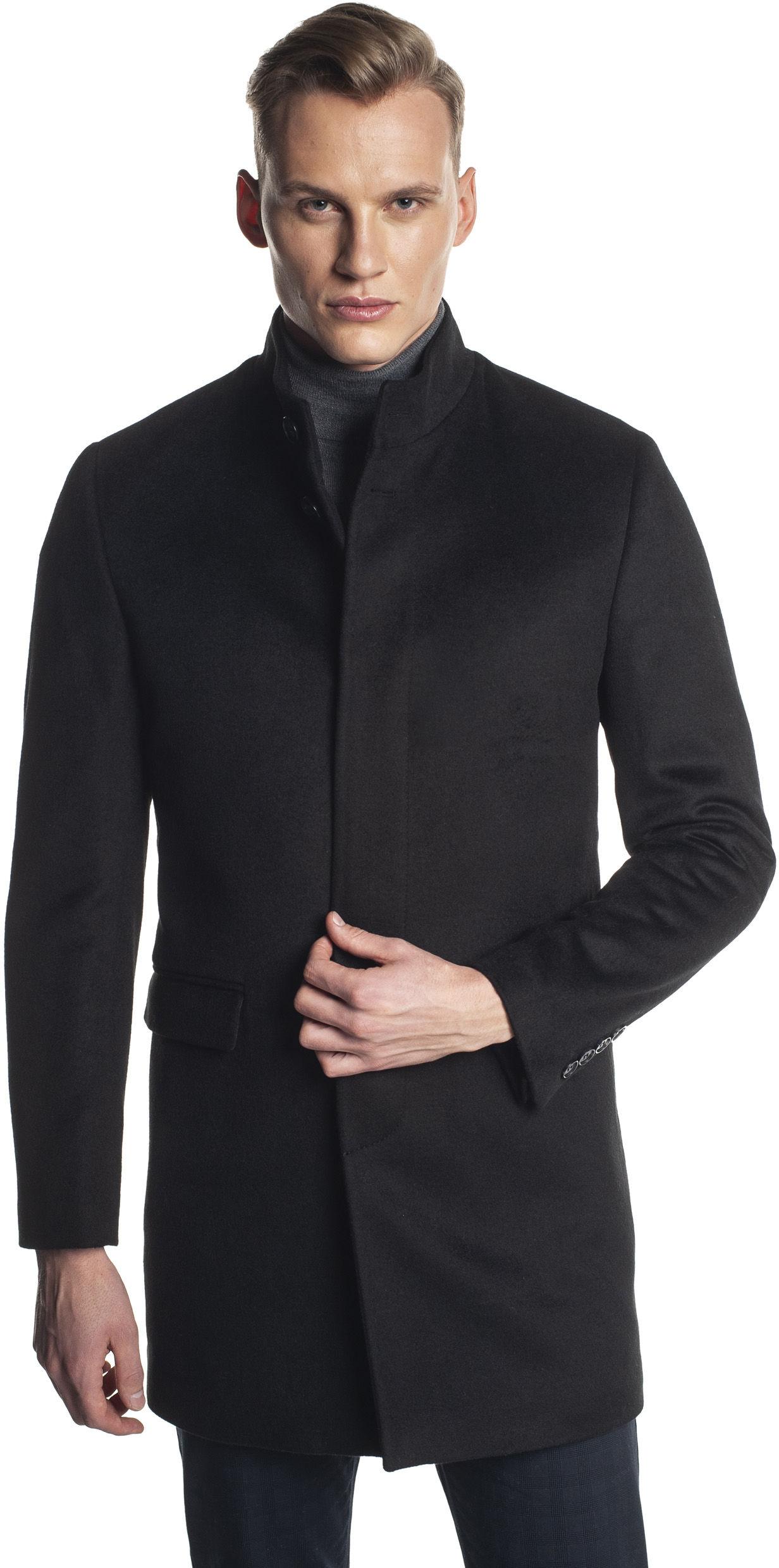 płaszcz harol czarny