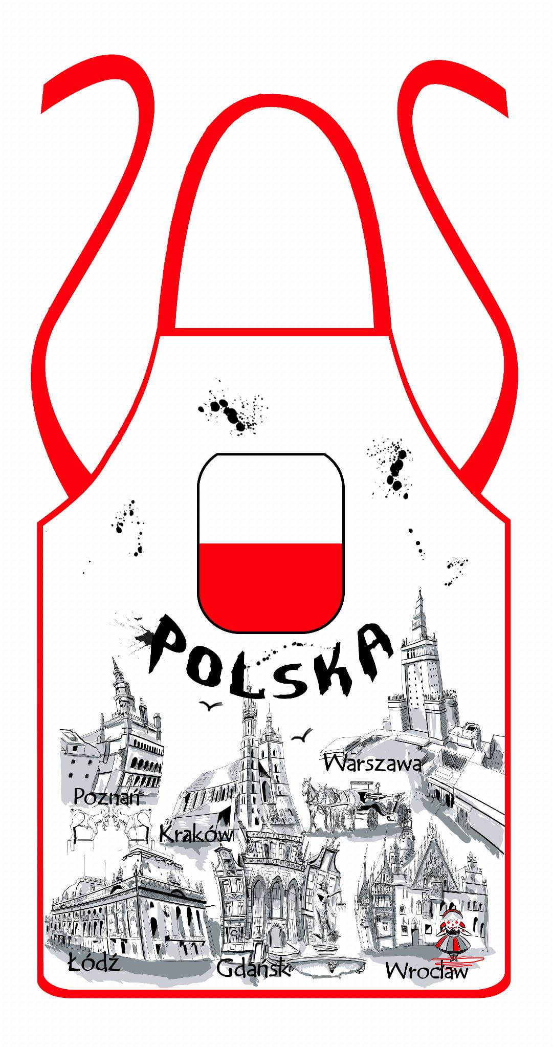 Fartuch kuchenny Polska farba