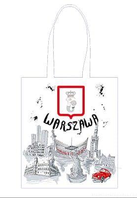 Torba bawełniana Warszawa farba