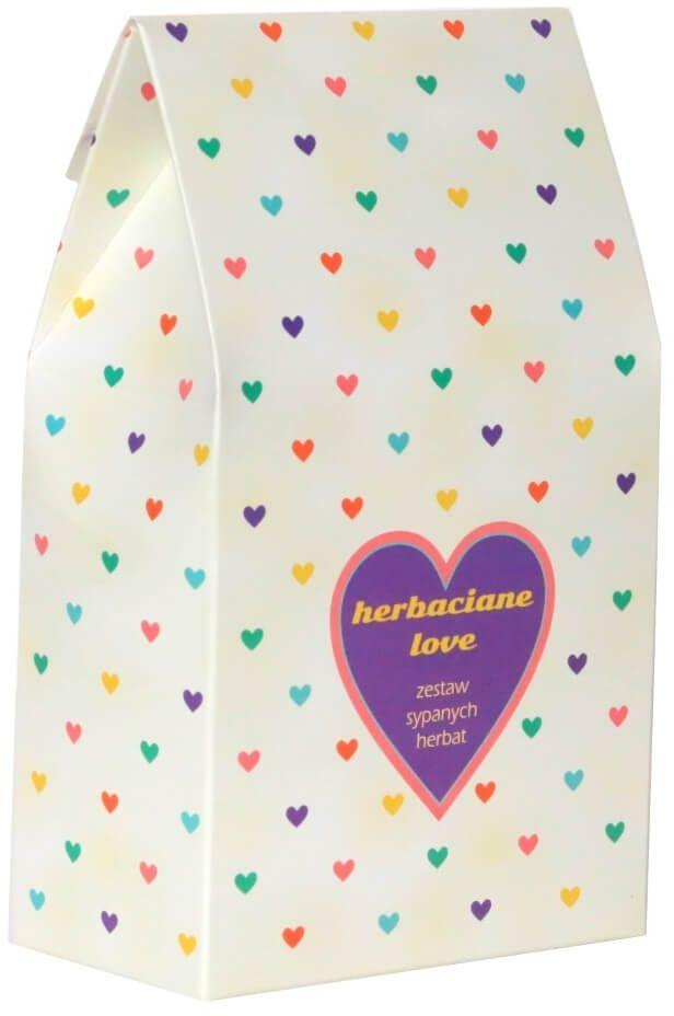Herbaciane love  prezent podarunek dla zakochanych na walentynki z herbatą wysokiej jakości 10*5g