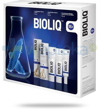 Bioliq 55+ krem intensywnie liftingujący + krem liftingująco-odżywczy na dzień + krem na noc [ZESTAW]