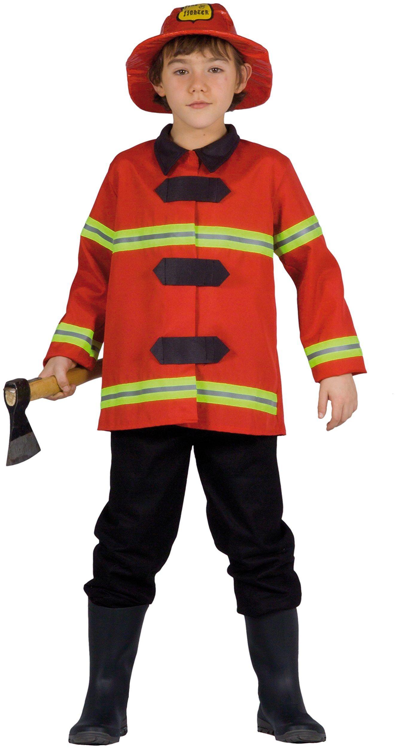 Kwiaty Paolo  kostium strażaka dziecko L (7-9 anni), czerwony