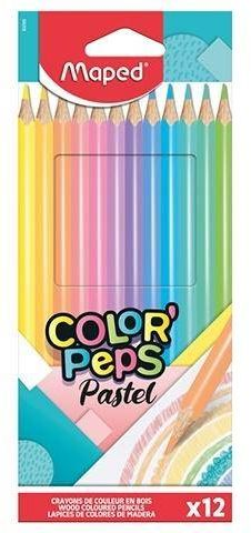 Kredki Colorpeps pastel trójkątne 12 kolorów - Maped