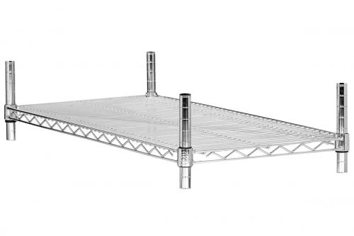 Półka ażurowa chromowana prosta 610x460 mm