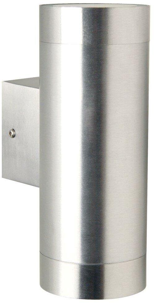 Kinkiet zewnętrzny Tin Maxi 21519929 Nordlux podwójna oprawa w kolorze aluminium
