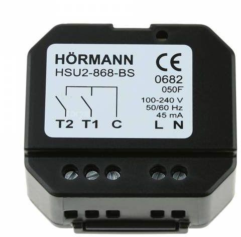 Nadajnik podtynkowy 2-kanałowy HSU 2 BS zasilanie 230 V