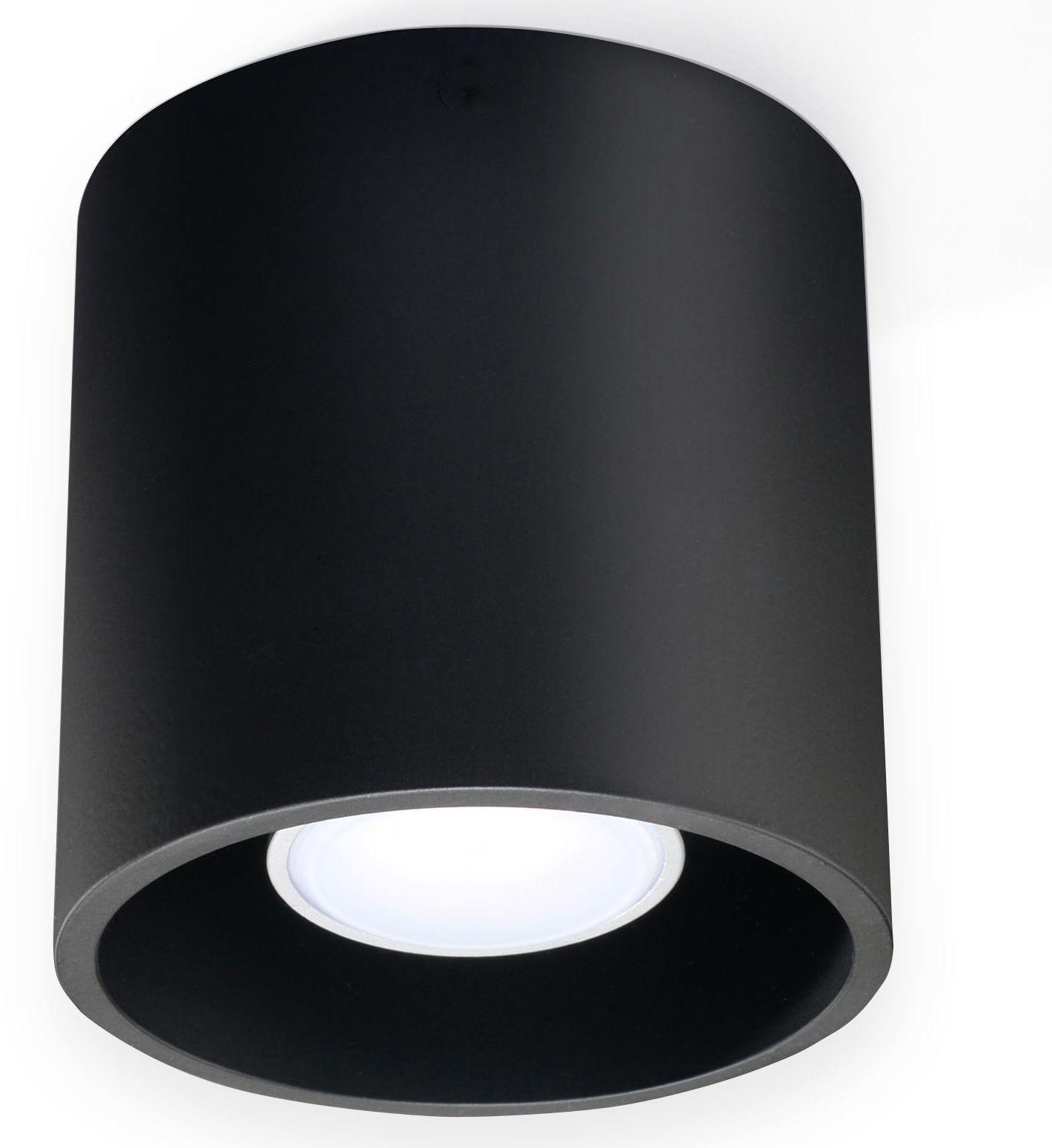 Okrągły plafon E760-Orbil - czarny