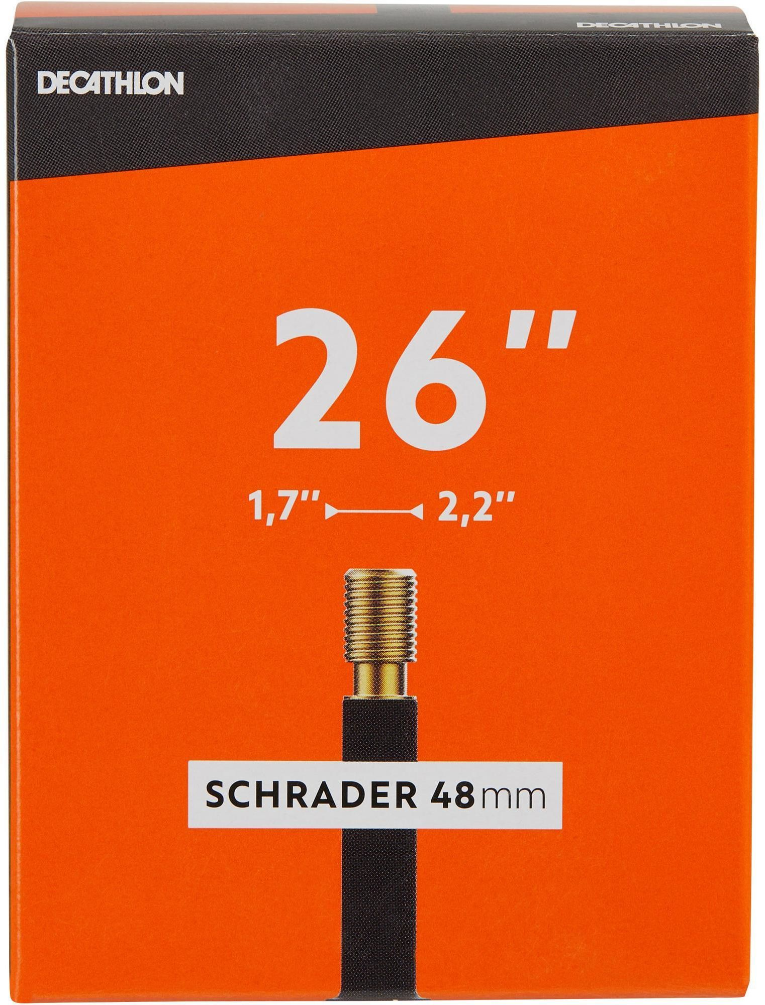 DĘTKA ROWEROWA 26x1,7/2,2 Z WENTYLEM SCHRADER 48 MM