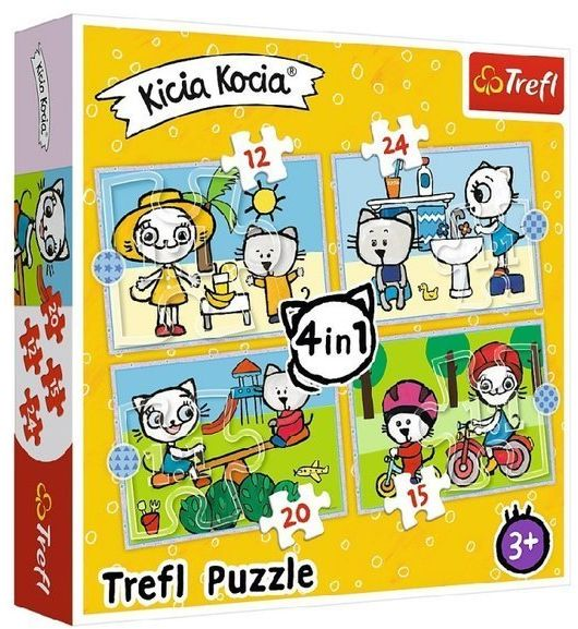 Puzzle 4 w 1. Kicia Kocia. Dzień