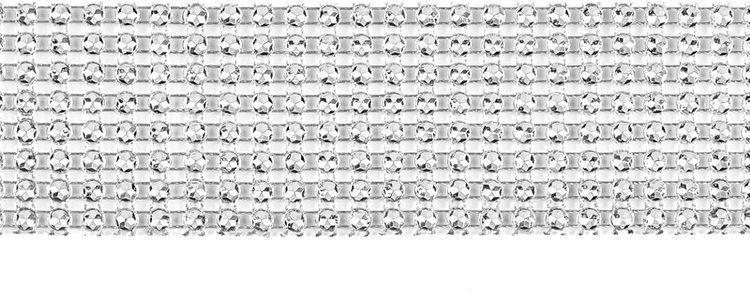 Taśma dekoracyjna z cyrkoniami srebrna 4x900cm 1 sztuka TC1-4-018