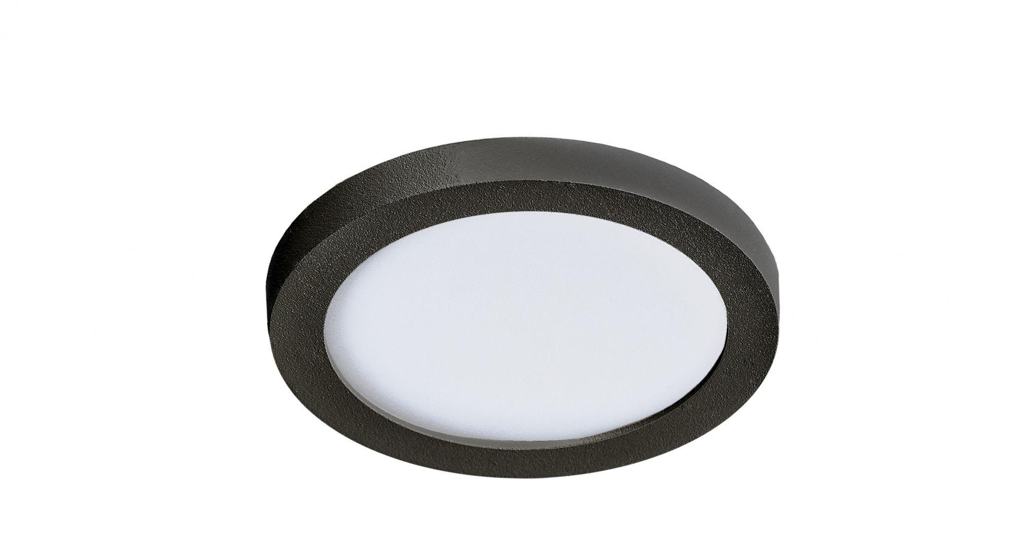 Plafon Slim round 9 AZzardo czarna oprawa w nowoczesnym stylu