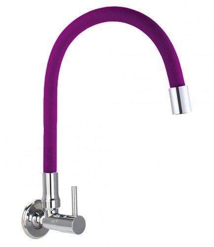 Bateria /zawór na zimną wodę ścienna fioletowa FLEXI