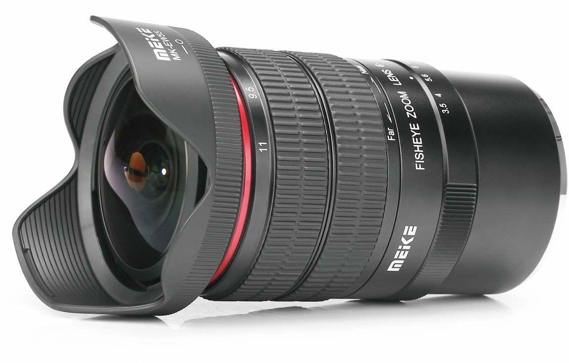 Meike MK 6-11 mm f3.5 Fisheye obiektyw zmiennoogniskowy APS-C czujnik format dla Nikon F